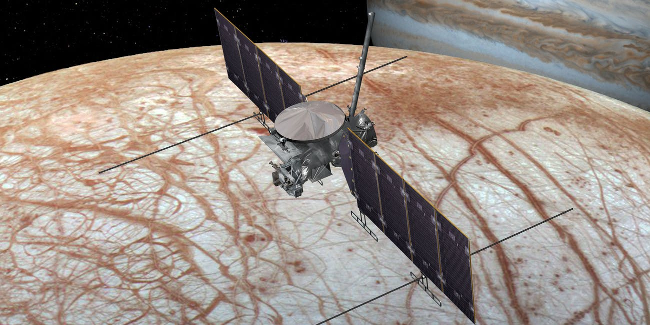 The Europa fly-by mission.