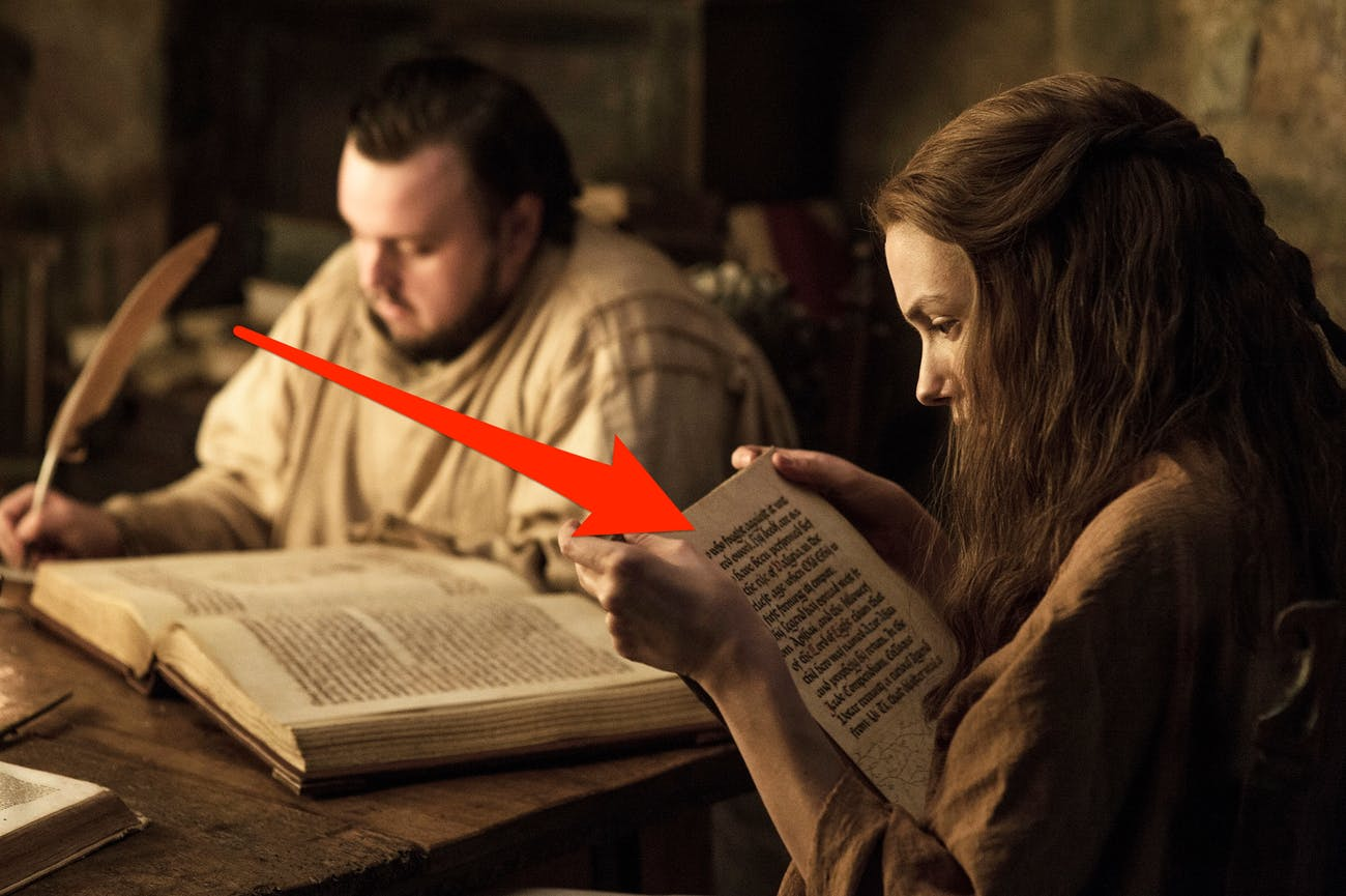 Sam and Gilly read about Azor Ahai in 'Game of Thrones' Season 7
