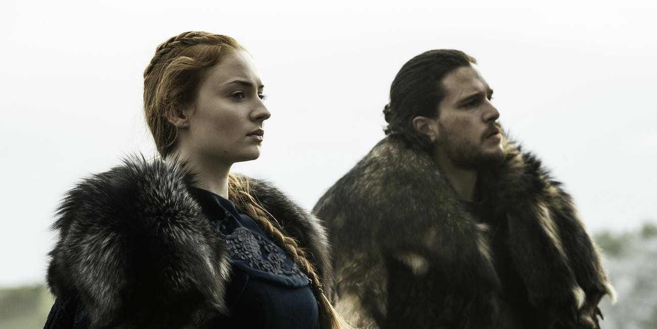 Sophie Turner and Kit Harington in 'Game of Thrones'