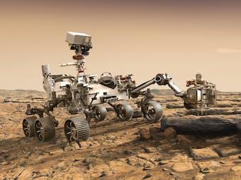 Artist mock-up of Mars 2020 rover