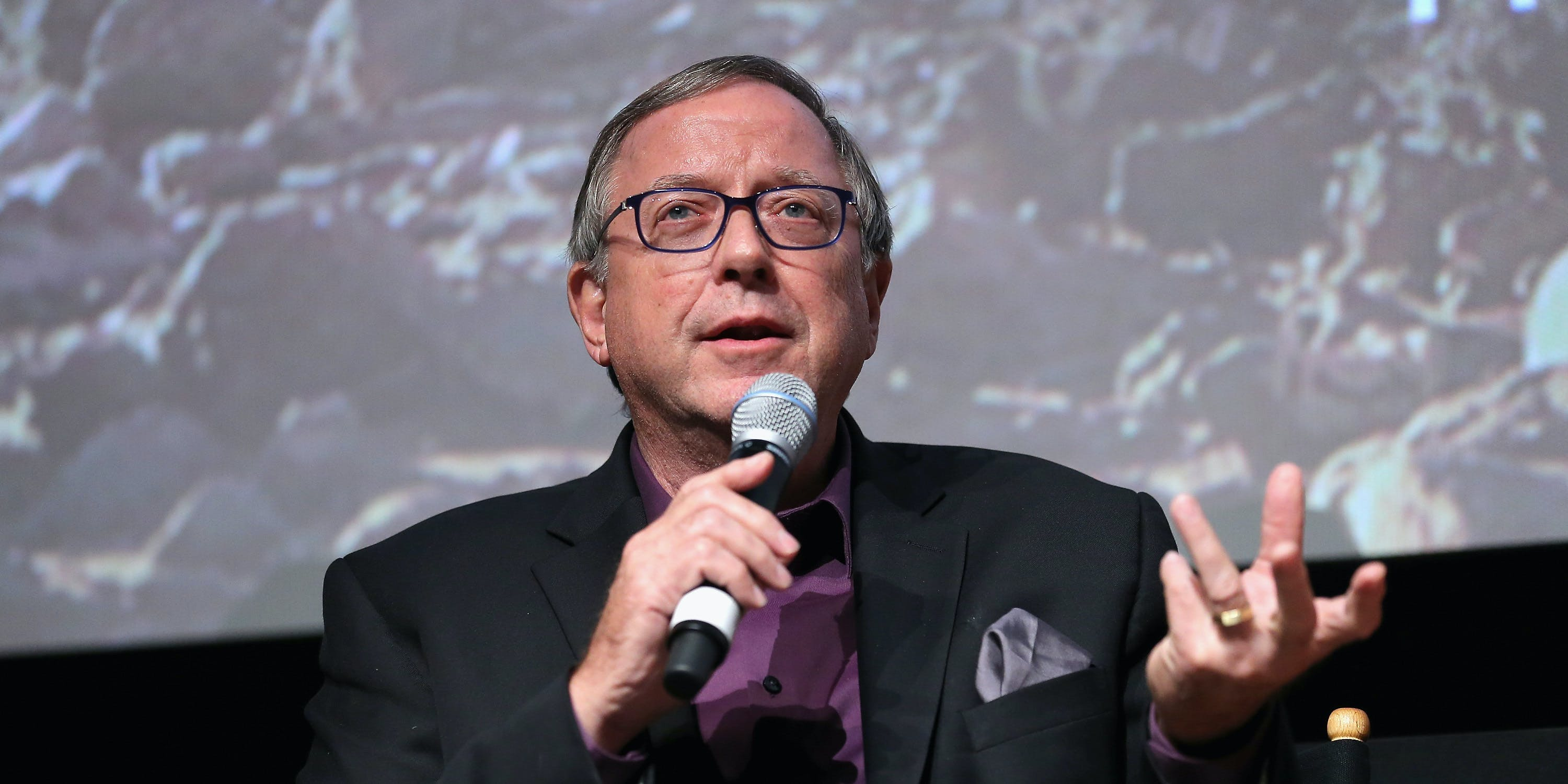 Stephen Petranek speaks at the National Geographic Channel 'MARS' premiere.