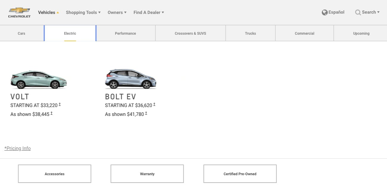 GM chevrolet electric hybrid cars