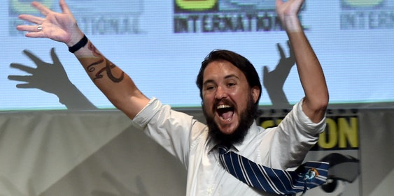 SAN DIEGO, CA - JULY 09:  Actor Wil Wheaton speaks onstage during 'Con Man' The Fan Revolt 13 Years In The Making panel during Comic-Con International 2015 at the San Diego Convention Center on July 9, 2015 in San Diego, California.  (Photo by Kevin Winter/Getty Images)