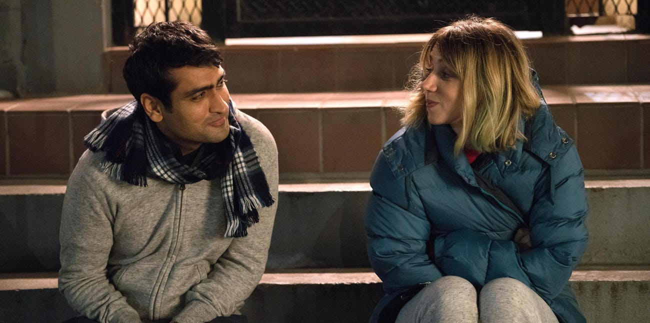Kumail Nanjiani and Zoe Kazan in Judd Apatow's 'The Big Sick'