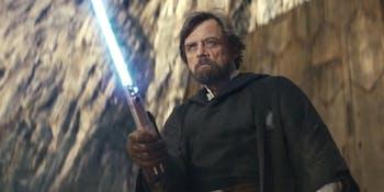 Mark Hamill as Luke Skywalker in 'The Last Jedi'