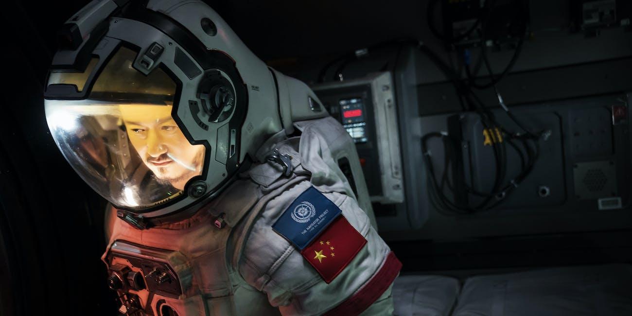 Actor Liu Peiqiang in 'The Wandering Earth'
