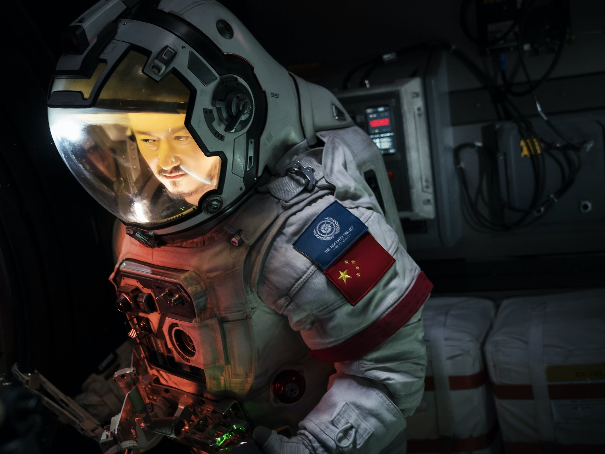 Actor Liu Peiqiang in 'The Wandering Earth'