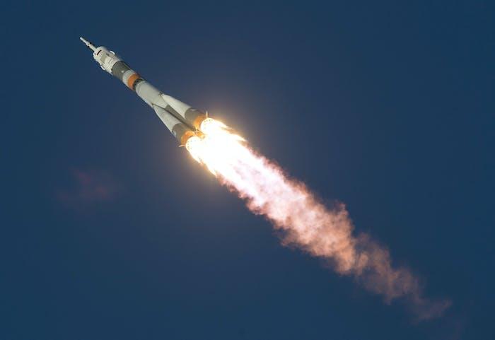 The Soyuz TMA-19M rocket.