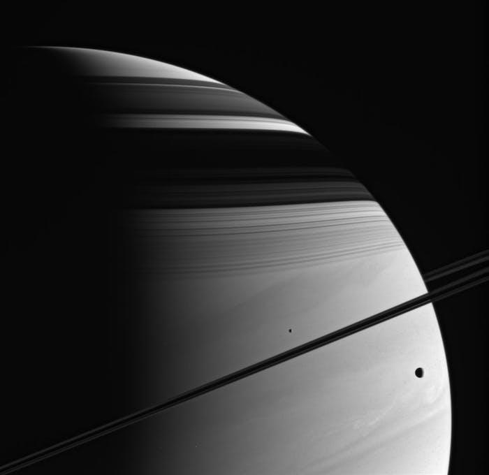 saturn cassini moons rings