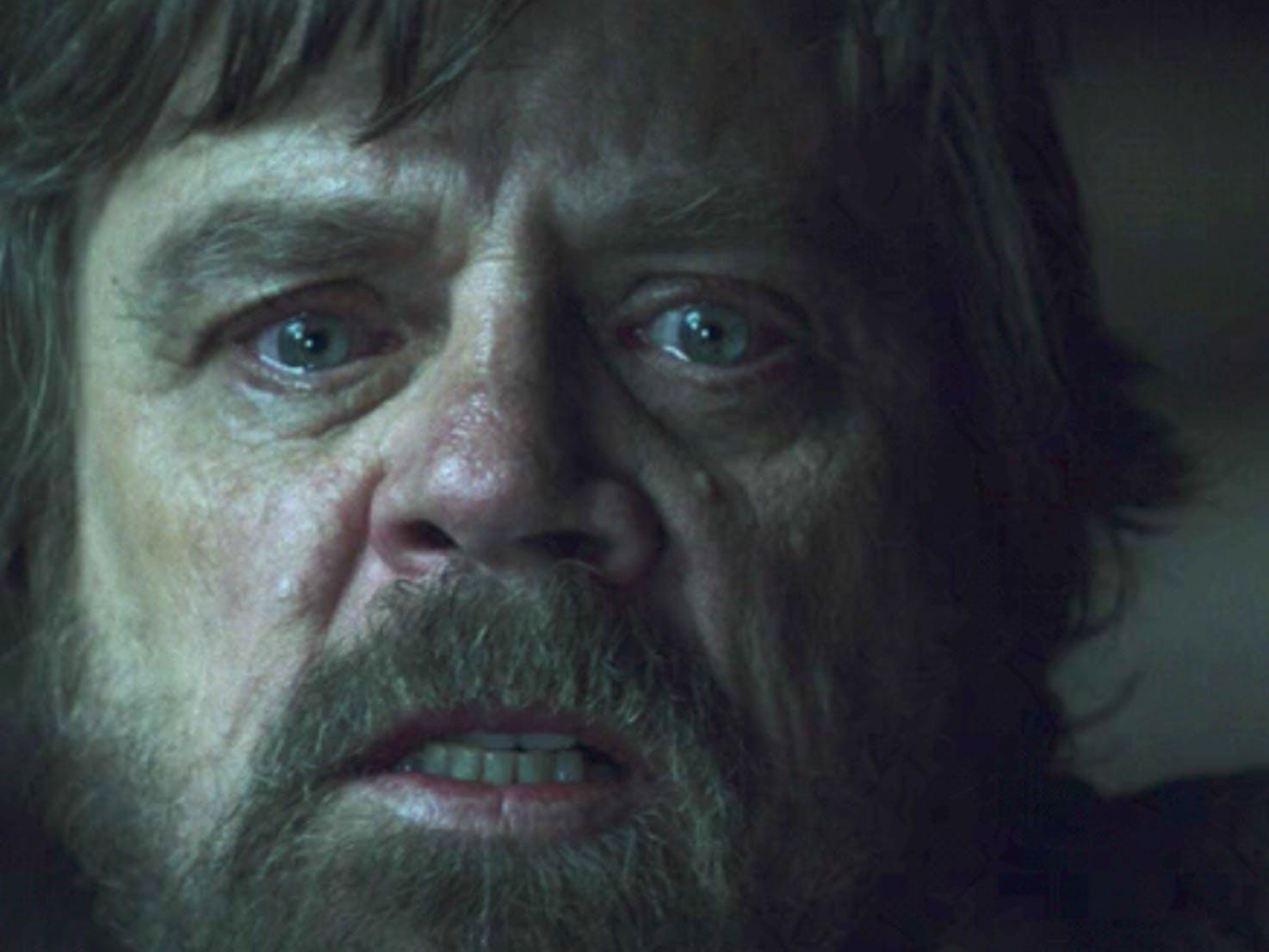 Mark Hamill in 'Star Wars; The Last Jedi'