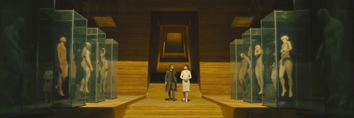 Blade Runner 2049 replicants lab floating