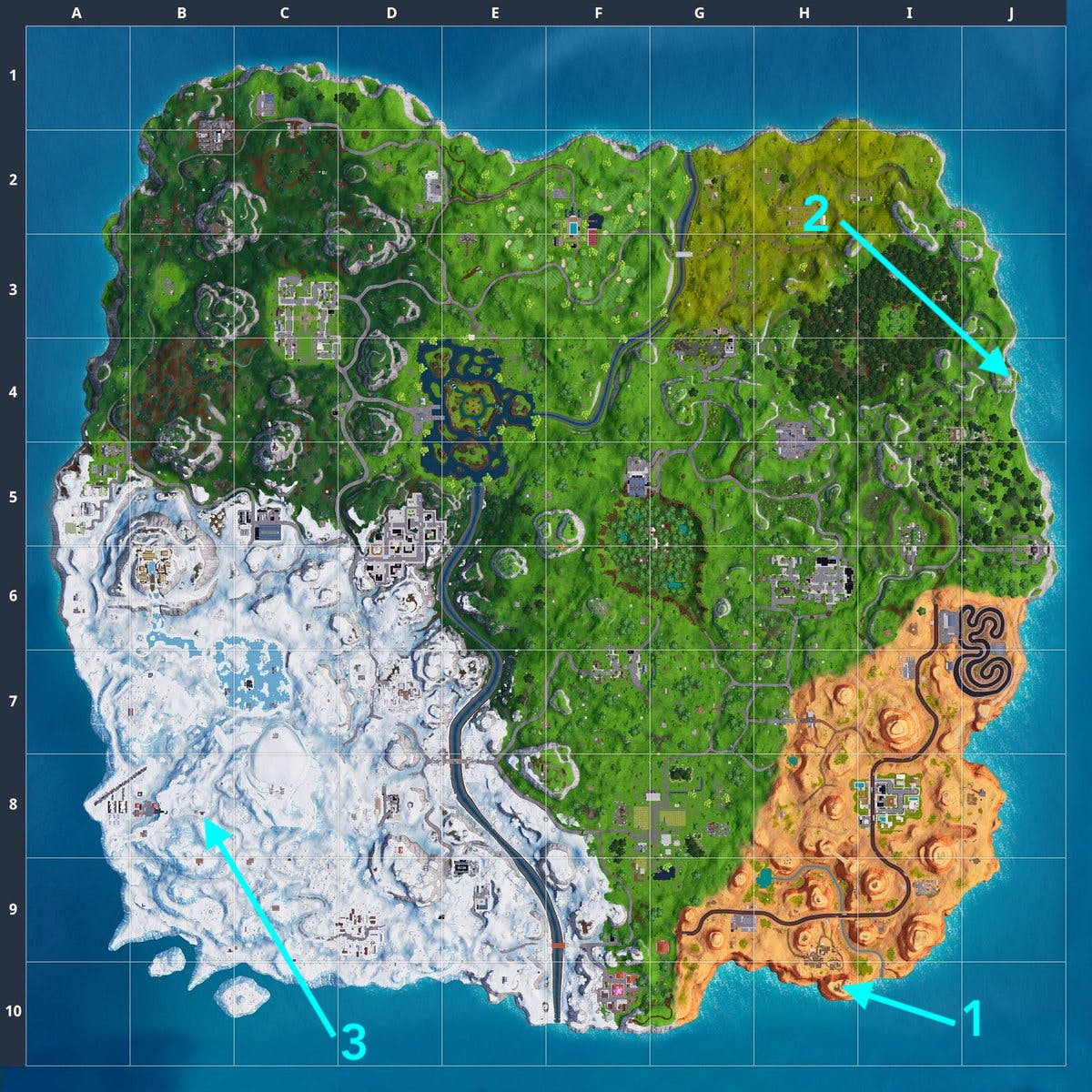 Florida Tech Map.Fortnite Crown Of Rvs Metal Turtle And Submarine Locations Video