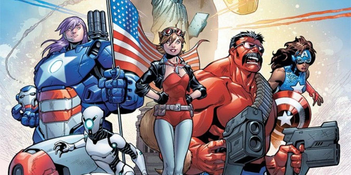 U.S. Aventers #1 cover Marvel Comics