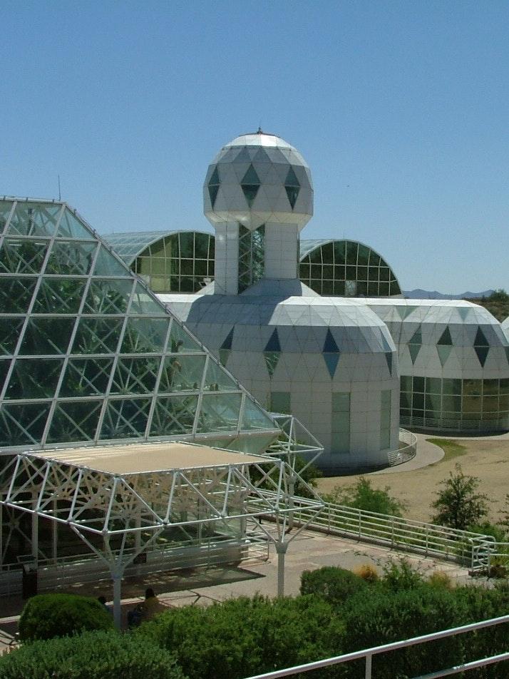 Biosphere 2 habitat in 2009.