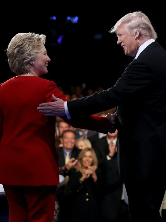 Donald Trump and Hillary Clinton in first presidential debate