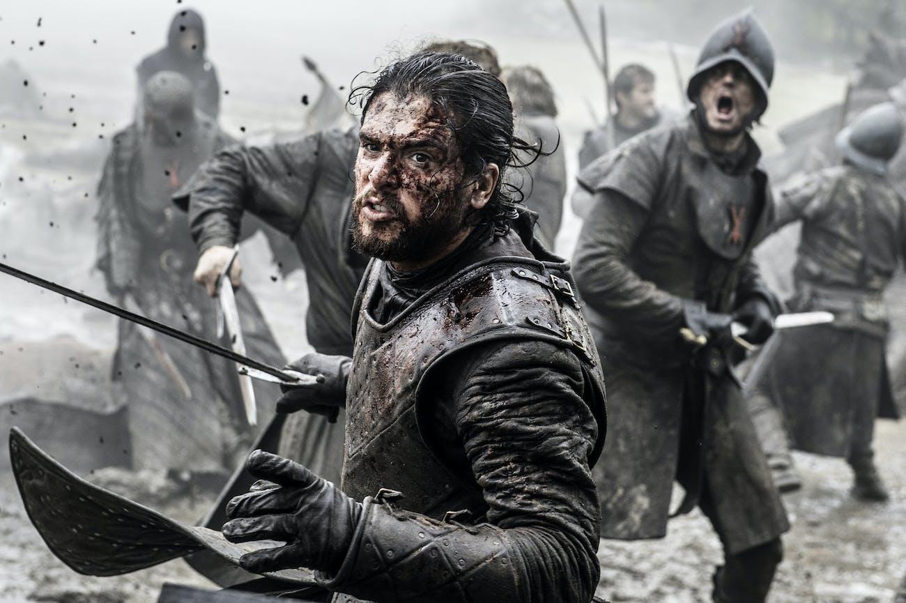 Kit Harrington as Jon Snow in 'Game of Thrones' Season 6.