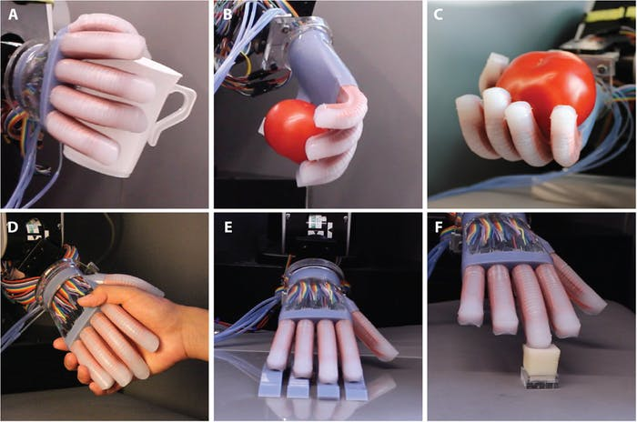 These are some of the robot hand's capabilities.