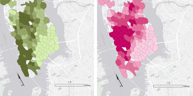 CitiBike map Manhattan Sasha Trubetskoy carotgraphy