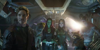 The Guardians of the Galaxy crash 'Infinity War' but...this exact scene is not in the movie.