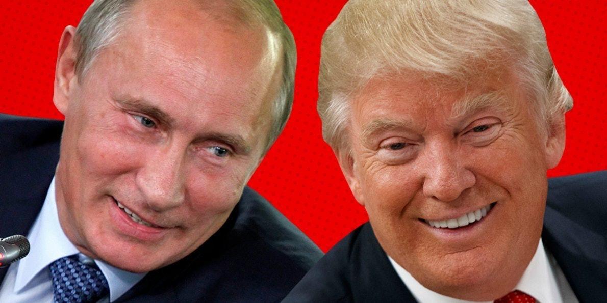 Putin and Donald, BFFs.