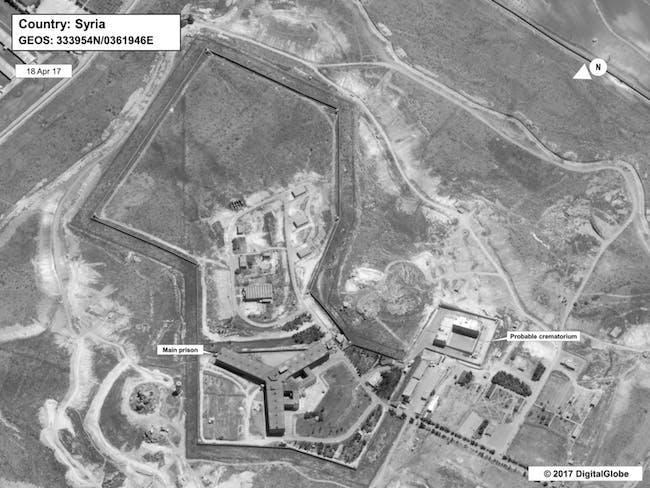 Syria crematorium human rights abuses satellite