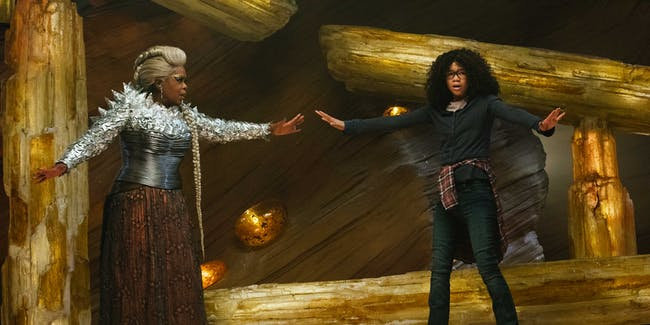Oprah Winfrey as Mrs. Which and Storm Reid as Meg Murray in 'A Wrinkle in Time'
