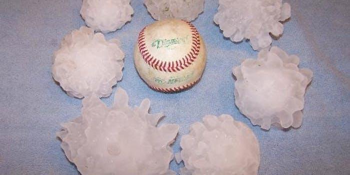 baseball-sized hail