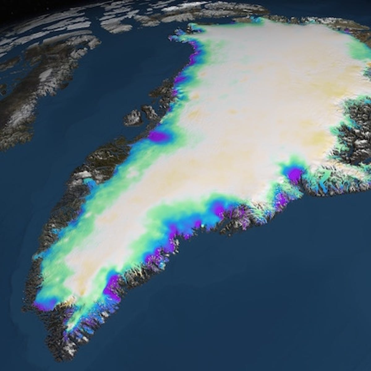 Greenland Ice Sheet: Climate Change Has Increased Ice Loss Rate by Sixfold