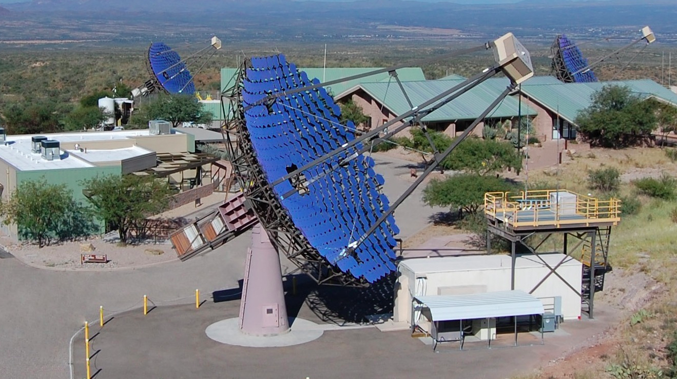 The VERITAS (Very Energetic Radiation Imaging Telescope Array System) in southern Arizona.