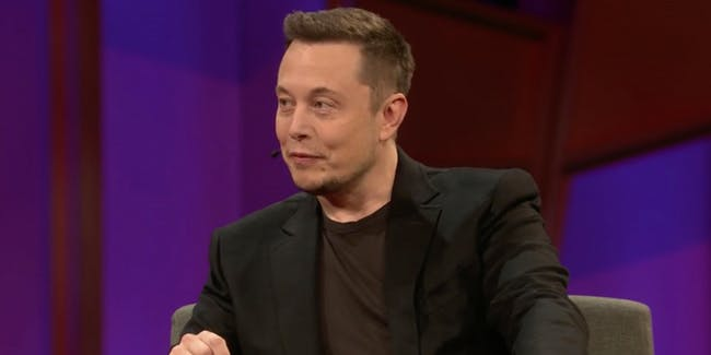 Elon Musk at the 2017 TED Conference