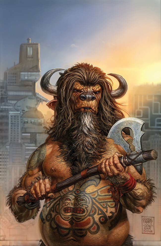 Buffalo Man on the cover of Dark Horse's American Gods comics.