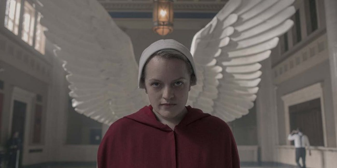 June (Elisabeth Moss) in The Handmaid's Tale Season 3.