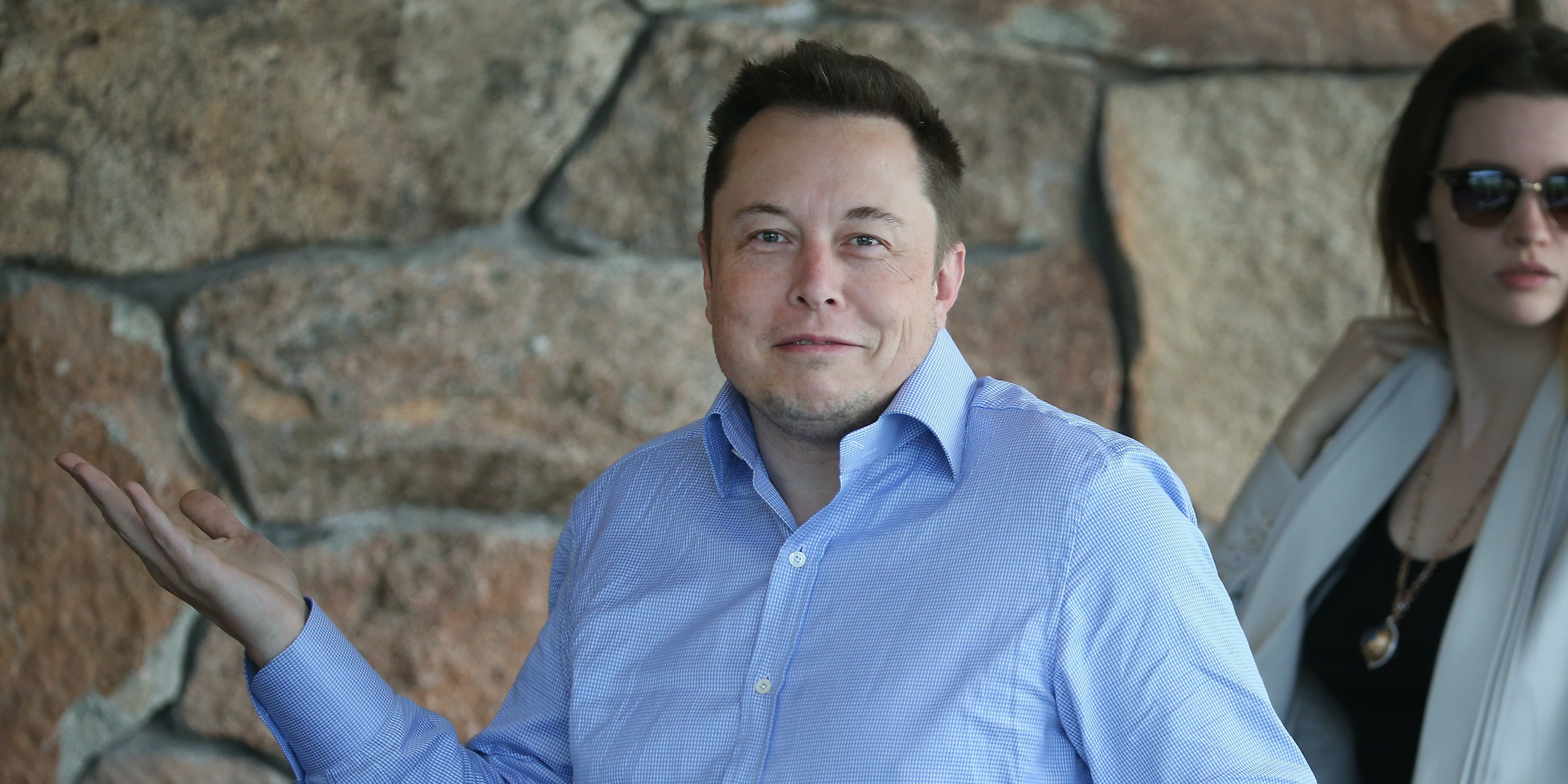 SUN VALLEY, ID - JULY 07: Elon Musk, CEO and CTO of SpaceX, CEO and product architect of Tesla Motors, and chairman of SolarCity, attends the Allen & Company Sun Valley Conference on July 8, 2015 in Sun Valley, Idaho. Many of the world's wealthiest and most powerful business people from media, finance, and technology attend the annual week-long conference which is in its 33nd year.  (Photo by Scott Olson/Getty Images)