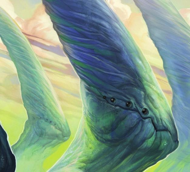 Detail of Julie Dillon art for CLARKESWORLD #106 featuring Sam J. Miller
