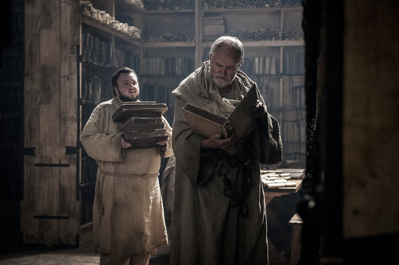 John Bradley and Jim Broadbent in 'Game of Thrones' Season 7 episode 2, Stormborn