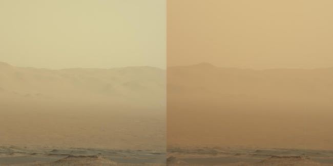 Curiosity rover documenting the recent dust storm