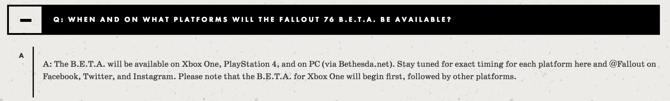Fallout 76' Beta Release Date: Here's When Early Access