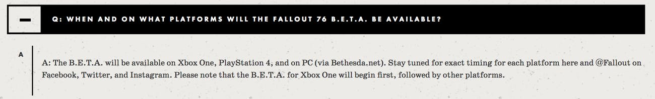 fallout 76 beta faq