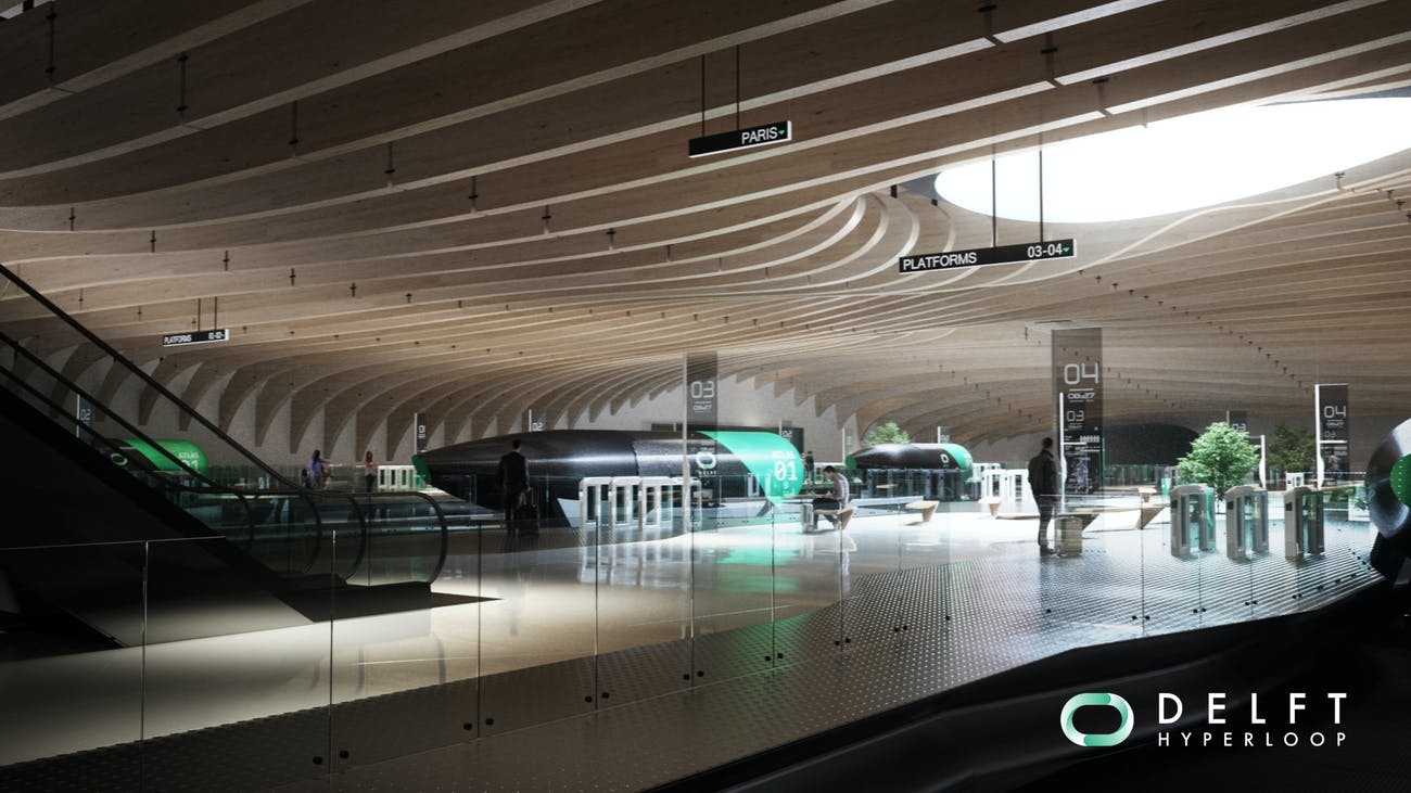 Hyperloop station concept design.