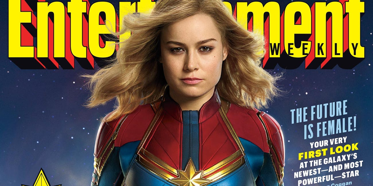 'Entertainment Weekly' 'Captain Marvel' Cover