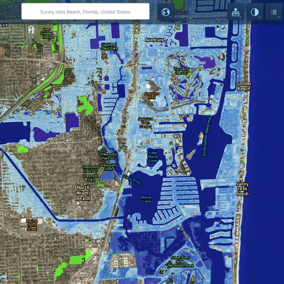 projected sea level rise2050 map ireland