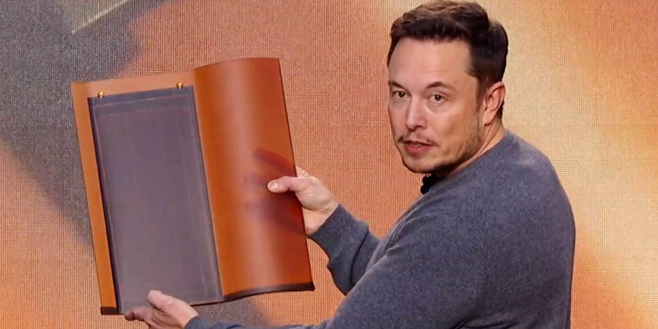 Elon Musk says solar roof tiles will be able to defrost themselves.