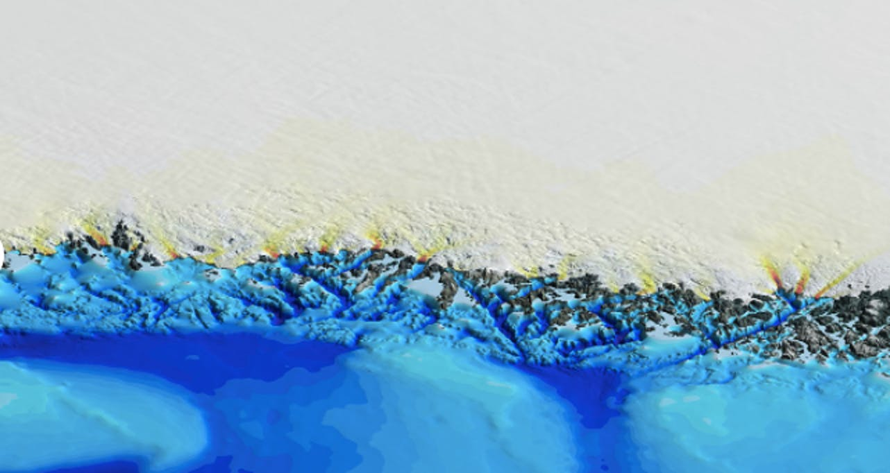 greenland glaciers melting