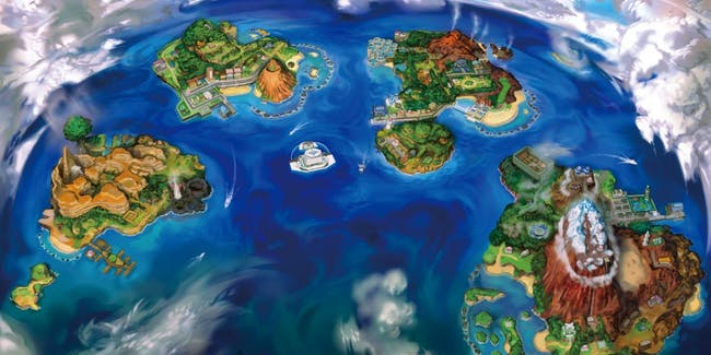 A map of the Alola region