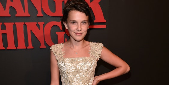 LOS ANGELES, CA - JULY 11:  illie Brown attends the Premiere of Netflix's 'Stranger Things' at Mack Sennett Studios on July 11, 2016 in Los Angeles, California.  (Photo by Alberto E. Rodriguez/Getty Images)