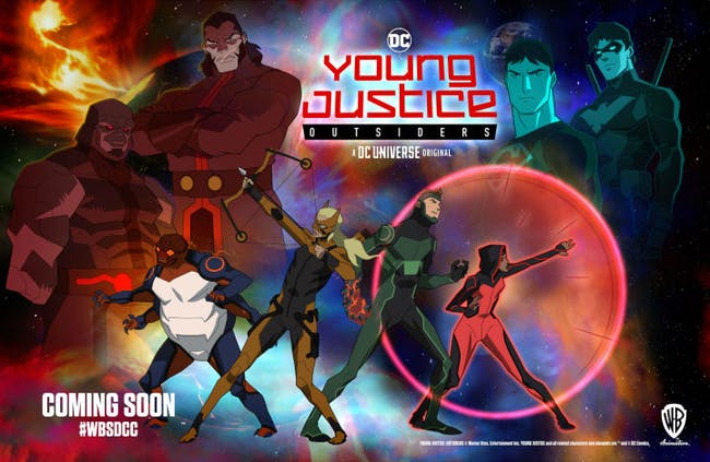 'Young Justice: Outsiders' San Diego Comic-Con exclusive poster.