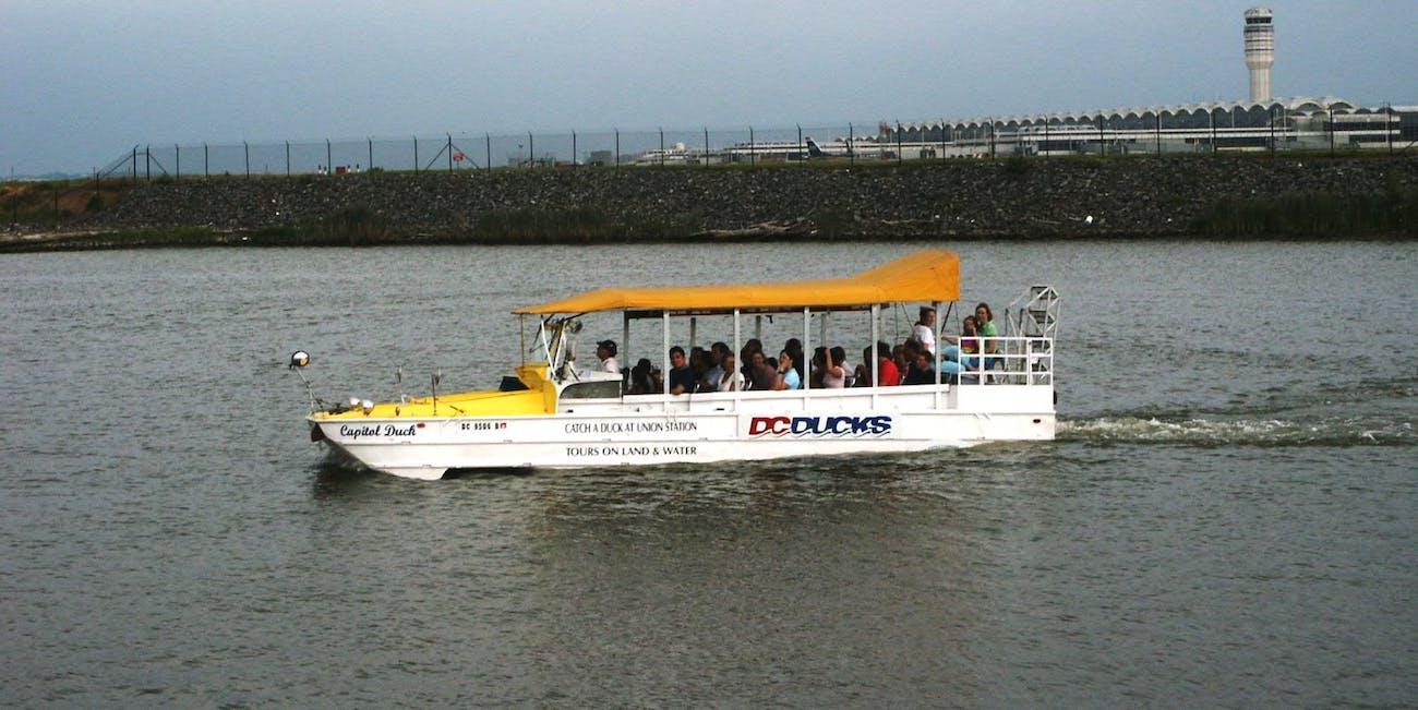 DC Duck Boat near Ronald Reagan National Airport