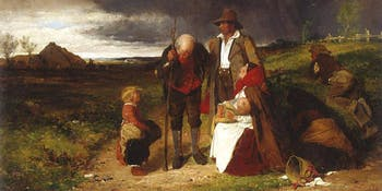 An Evicted Family, Irish painting