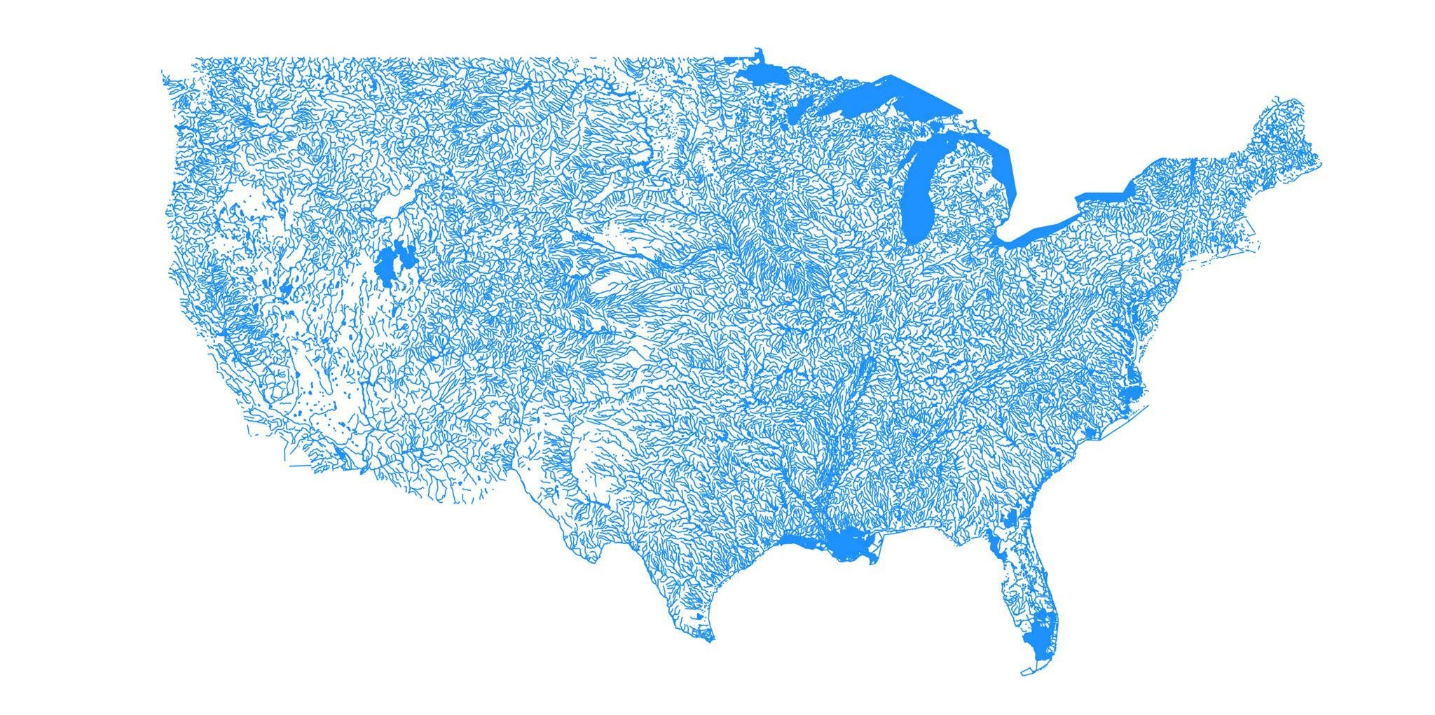 Simple script that uses GIS data from the USGS to plot water bodies