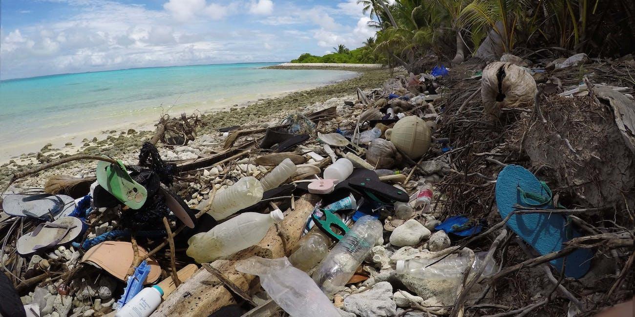 cocos island microplastics